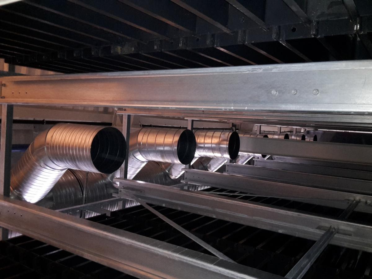 Odvětrávání hal pro výrobu betonového zboží