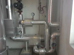 Tepelné izolace potrubí BIOCEV Vestec